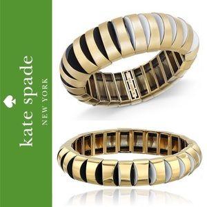 🆕 ♠️ Scalloped Stretch Bracelet Gold + Enamel